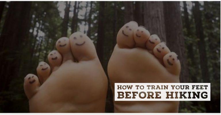 Train your feet before hiking