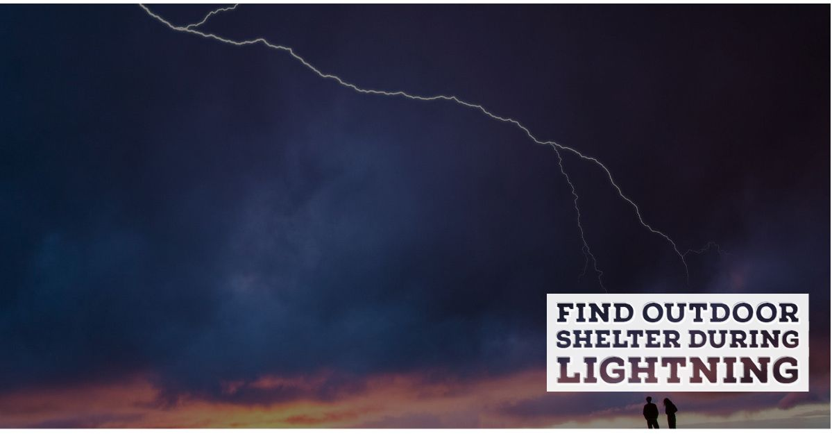 find shelter in lightning
